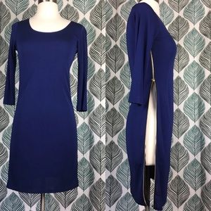 Amanda Uprichard Zip Up Sides Long Sleeve Dress